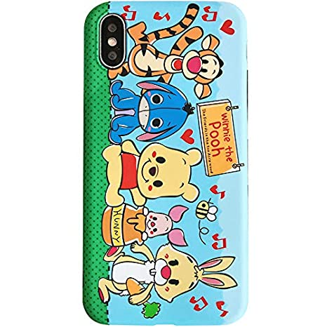 Ultra Slim Fit Smooth Soft TPU Tom & Jerry Case for iPhone X XS Blue Red  Mouse Cat Sleek Cartoon Protective Cute Lovely Cool Fun Gift Little Girls