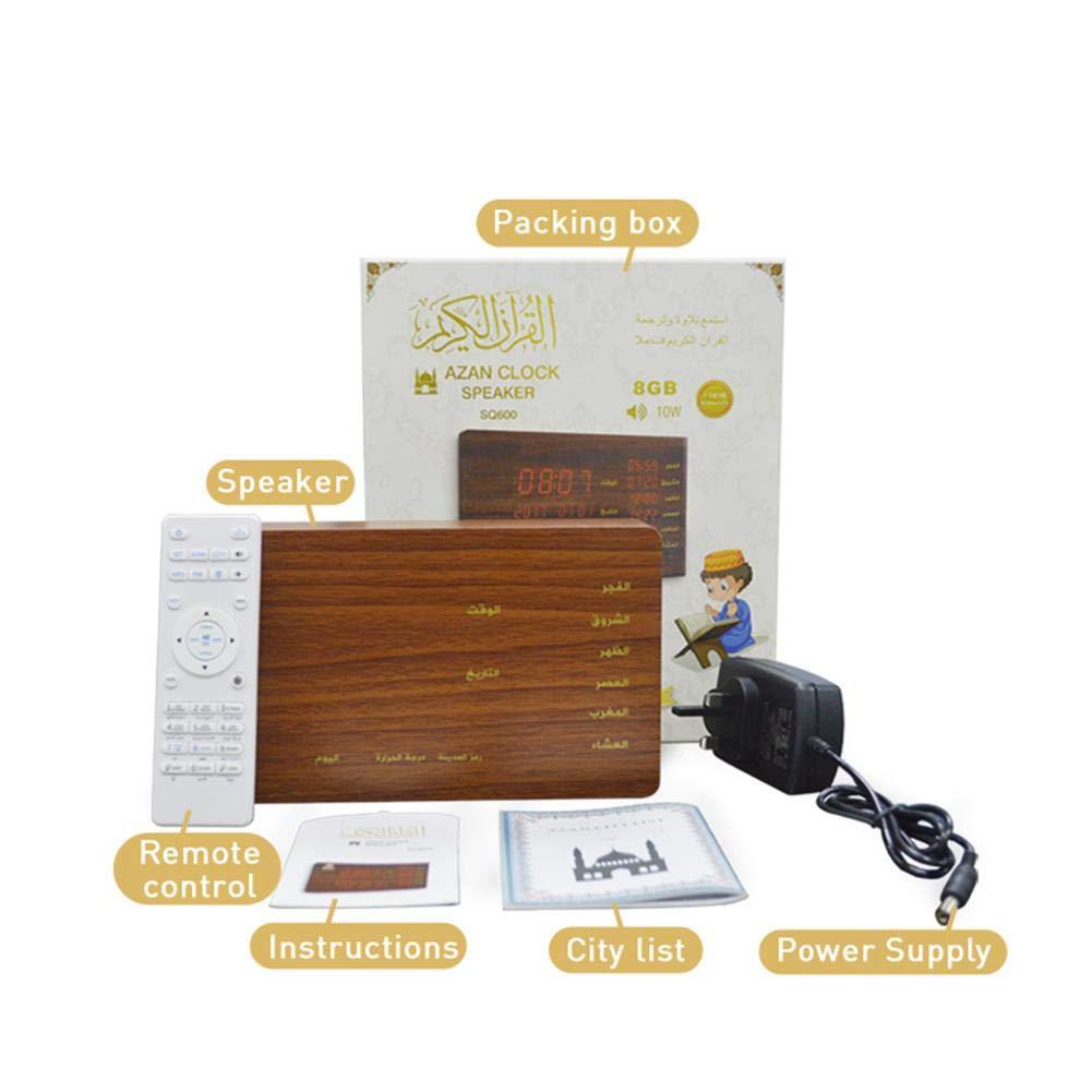 レトロBluetoothスピーカー音楽プレーヤー - ポータブルワイヤレス手作り木製スピーカー 旅行、自宅、アウトドア用 | 10ウォー高品位スピーカー | 日付、時間、温度、曜日を表示 B07PZ6BQLG