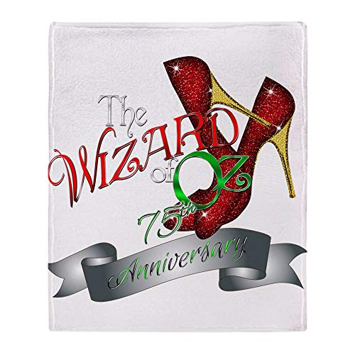 CafePress 75Th Anniversary Wizard of Oz Ruby Slippers Throw Soft Fleece Throw Blanket, 50