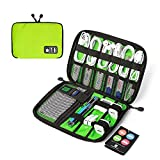BAGSMART Small Universal Cable Organizer Travel Electronic Accessories Bag Case for Apple wires, Cables, USB Keys, Plugs, Earphones, Light Green
