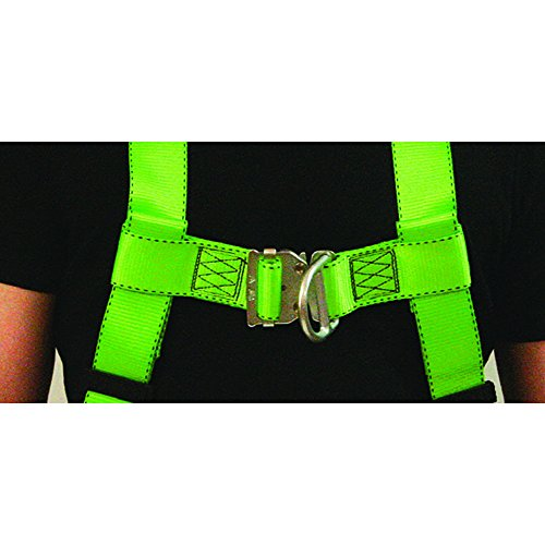 Peakworks Fall Protection V8002020 Industrial / Contractor Harness ( Class L  ), Front and Back D-Ring, Universal Fit, Hi-Vis Green by Peakworks (Image #3)