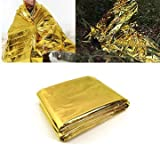 Generic 140x210CM Emergency Thermal Survival Blanket Waterproof Foil Rescue First-Aid Mat