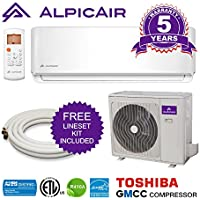AlpicAir 12,000 BTU Ductless Mini Split Air Conditioner System Inverter Heat Pump