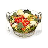 Salad Bowl On Ice with dividers and utensils