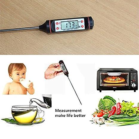 ... Termómetro de la sonda LCD de temperatura de lectura instantánea Termómetros Detector de cocina Hornear Carne Steak Grill Barbacoa Leche en Amazon.es