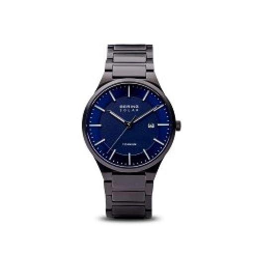 BERING Reloj Analógico para Hombre de Cuarzo con Correa en Titanio 15239-727: Amazon.es: Relojes