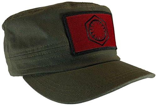 Star Wars First Order Hat Fatigue Castro Cap Red & Black Emblem