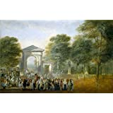 Canvas Prints Of Oil Painting 'Paret Y Alcazar Luis The Botanical Garden Seen From The Paseo Del Prado Ca. 1790' 16 x 25 inch / 41 x 62 cm , Polyster Canvas, gifts for Bar, Dining Room And decoration