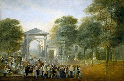 'Paret Y Alcazar Luis The Botanical Garden Seen From The Paseo Del Prado Ca. 1790 ' Oil Painting, 8 X 12 Inch / 20 X 31 Cm ,printed On Polyster Canvas ,this Imitations Art DecorativeCanvas Prints Is Perfectly Suitalbe For Basement Decor And Home Decoration And Gifts