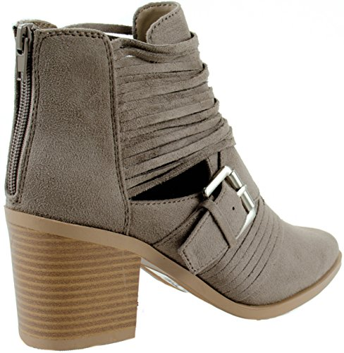 Block Heel Stacked with tpe Cutout Sm Mid Strappy Belted Jenner S Women's Ankle Soda Su Shoes Bootie HwUpUI