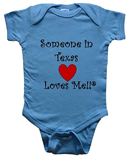 - Someone in Texas Loves ME - Texas Baby - State-Series - Blue Baby One Piece Bodysuit - Size Small (6M)