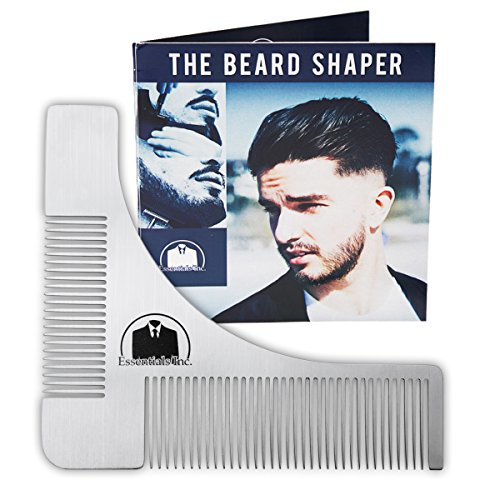 Essentials Beard Shaper Comb for Shaving - Symmetric Beards Shaping Tool, Styling Template, Facial Hair Grooming Kit Guide for - Trends Mens Hair Facial