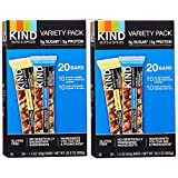Kind BarSalted Caramel & Dark Chocolate Almong - Dark Chocolate Almond & Sea Salt 1.4 oz, (Variety Pack, 40 Bars)