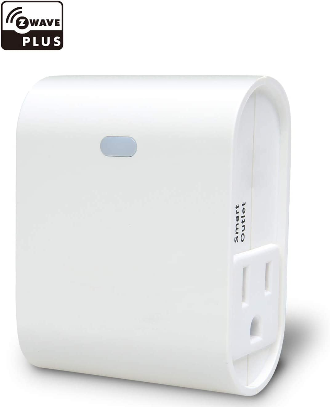 Z-Wave Smart On/Off Light and Appliance Plug, Dual Outlet Plug-in, 1 Alway-On+ 1 Smart, Built-in Zwave Repeater, Zwave Hub Required, Works with SmartThings, Wink