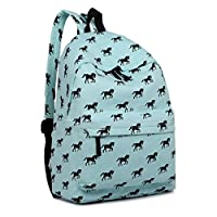 Miss Lulu Backpack School Bag Canvas Horse Shoulder Rucksack