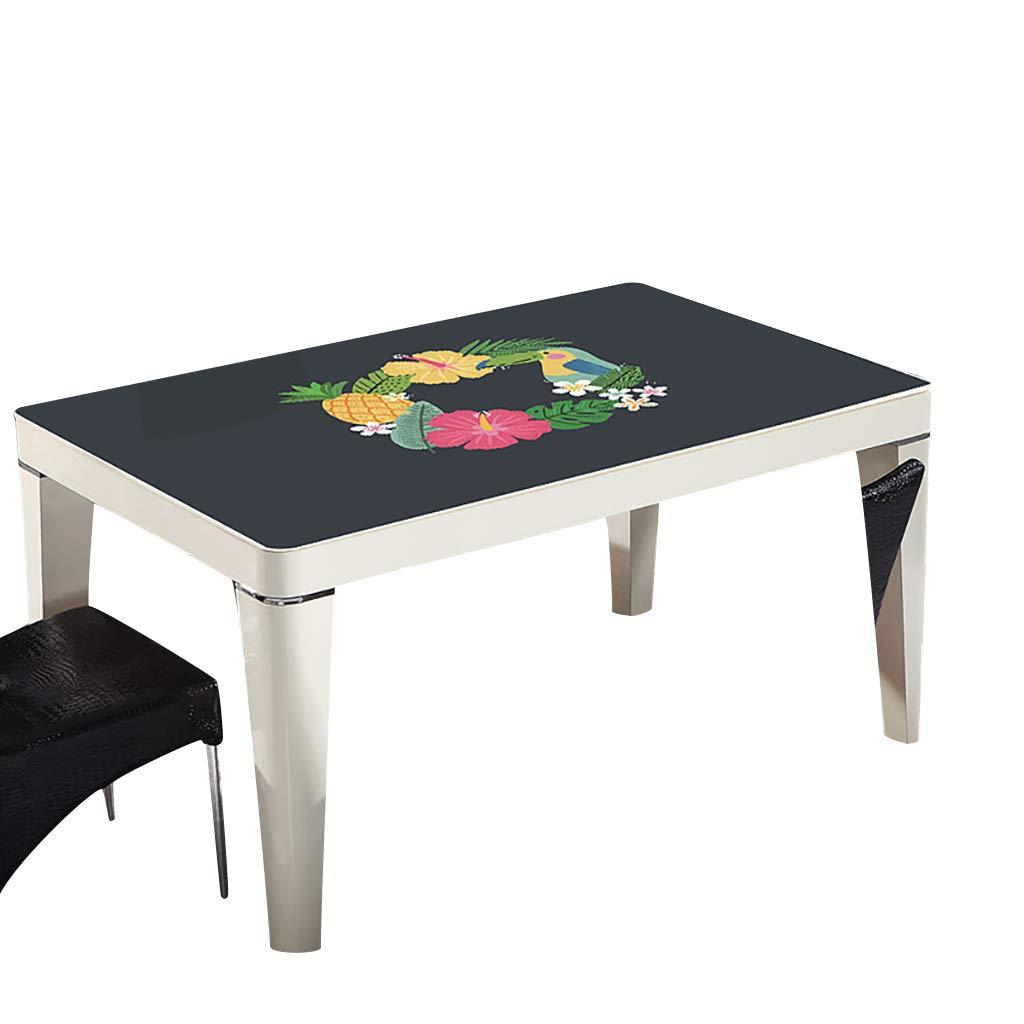 テーブルクロスソフトグラスPVC 70x120cm防水アンチホットアンチオイル簡単クリーンテーブルプロテクターコーヒーティーテーブルマットプラスチックテーブルクロス (サイズ さいず : 70x120cm) 70x120cm  B07S4LX2RR