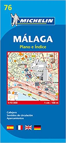 Michelin Malaga Street Map City Plan 76 Amazoncouk Michelin Books
