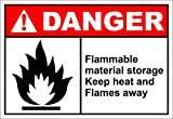 Product review for Flammable Material Storage Danger OSHA / ANSI LABEL DECAL STICKER 7 inches x 5 inches