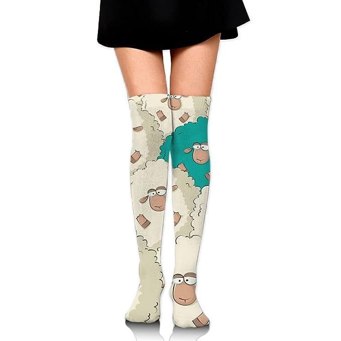 0a277dc4b4e7 Sheep Ram Goat Knee High Compression Socks Stylish Stretchability Pregnancy  Youth Soccer Socks
