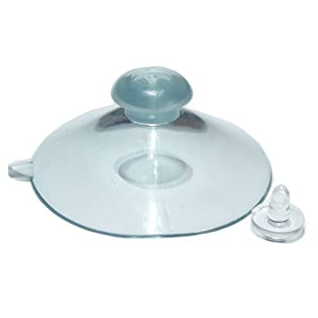 4 plain Packet of sucker PVC suction cup suckers clear vinyl 45mm Top /& Side Pilot suction cups