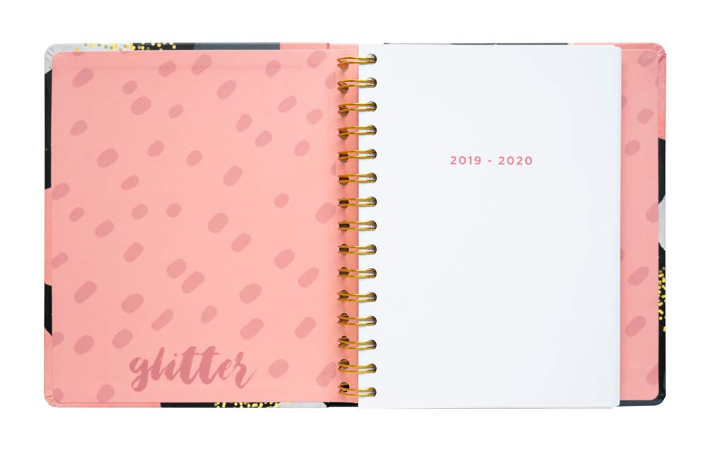 Glitter Gold Dreams Weekly Planner, Yearly Planner, Daily Planner, 17-Month Form Aug-2019 To Dec-2020, Organizer, Calendar, Agenda