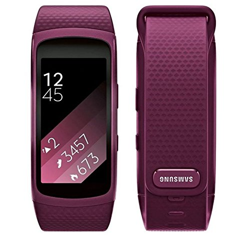 Samsung Gear Fit2 SM-R360 Sports Band Smartwatch/iPhone Compatible [Asia Version] (Pink - Small) by Samsung (Image #6)