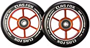 CLAS FOX 100mm One Pair Pro Stunt Scooter Wheels with ABEC-9 Bearings CNC Metal Core Graviti (2pcs)