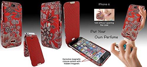 Piel Frama 676 Red Flower iMagnum ESSENCE iMagnum Leather Case for Apple iPhone 6 / 6S / 7 / 8 by Piel Frama (Image #4)
