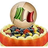 Vintage Italian Flag Italy Cake Top Topper
