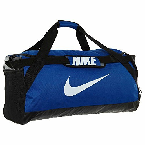 NIKE Brasilia Training Duffel Bag, Game Royal/Black/White, Large