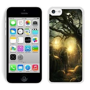 Custom-ized Iphone 5C TPU Rubber Protective Skin Halloween Horror Nights White iPhone 5C Case 2