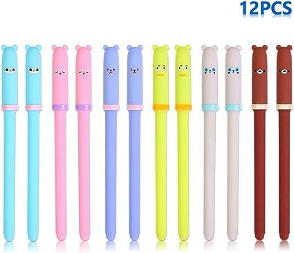 Bolígrafo de tinta negra de gel Emoji, bolígrafo de punta fina ...