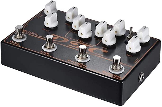 Pedal de efectos de guitarra eléctrica 4-en-1 distorsión ...