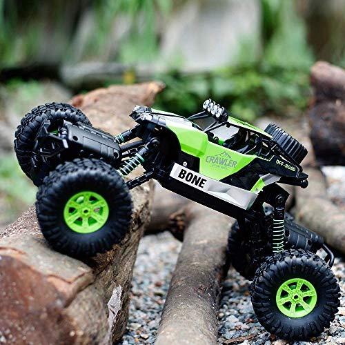 GizmoVine RC Coche Teledirigido Rock Crawler 4WD 2.4GHz Camión de Control Remoto Vehículo Alta Velocidad 1:16 Impermeable Juguete (Verde): Amazon.es: ...