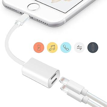 Verkstar iPhone 7/7 plus iphone8/8 plus iphone x イヤホン変換ケーブル 2in1