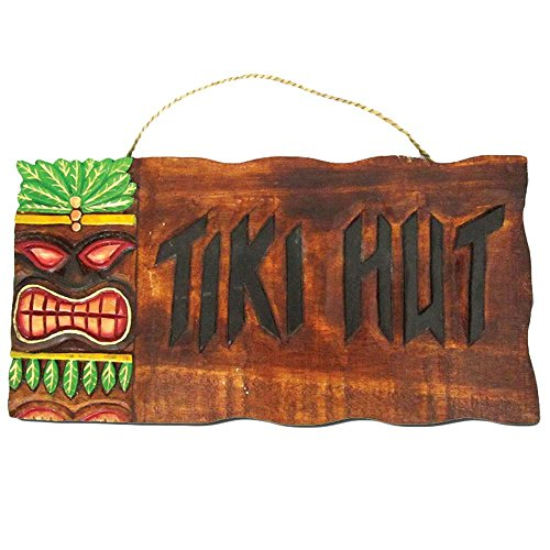 Tiki Hut Outdoor Wall Decor]()