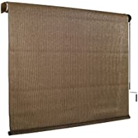 Coolaroo 8ft X 6ft Outdoor Cordless Roller Shade (Mocha)