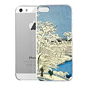 phone covers Light weight with strong PC plastic case for iPhone 5c Art The Classics Drum Bridge And Setting Sun Hill At Meguro
