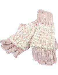 Marled Flip-Top GloveS Pink