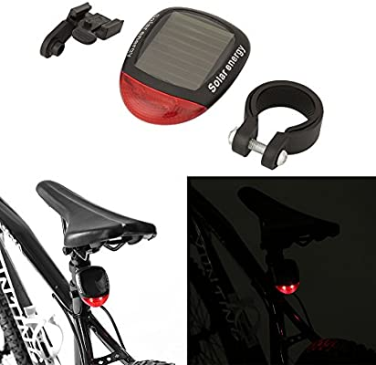 Waterproof Solar Power LED Bicycle Rear Lamp Bike Tail Safety Warning Light