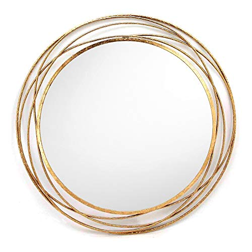 SPAZIO 7109-1 Swirl Wall Mirror, One Size, Antique Gold by SPAZIO (Image #1)