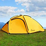 WolfWise 4 Person Large Family Tent Waterproof Backpacking Tent Sun Shelter Sunshade for Camping Travel Adventure Picnics Review