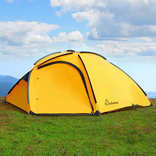 WolfWise 4 Person Large Family Tent Backpacking Tent for Camping Travel Adventure