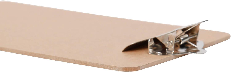 retro-Klemmer Hartfaser-Holz 15 mm Klemmweite DIN A5 hoch Schreibplatte Maulclassic Klemmbrett Recycelbar