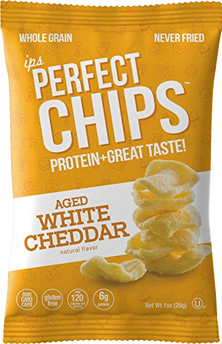 Ips White Cheddar Protein Chips Nutritious, Low Calorie, No Gluten, Kosher, Non GMO Snacks Healthy Crisps for Kids, Fitness, Diet Delicious Cheese Flavor 1 Ounce 24 Pack (Packaging May Vary) Review