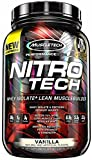Cheap MuscleTech NitroTech Protein Powder Plus Muscle Builder, 100% Whey Protein with Whey Isolate, Vanilla, 20 Servings (2lbs)