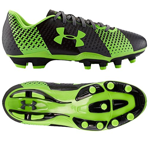 Under Armour Junior CF Fuerza FG–Botas de fútbol Graphite/Hyper Green (1266881-040)