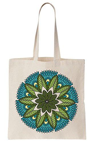 Elements Blue Of Green Canvas And Tote Nature's Bag Mandala SqZwnBqg