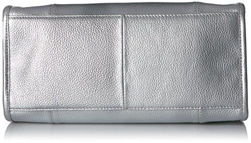 Leather Kira Tommy Satchel Silver Hilfiger ZYzcqwHx