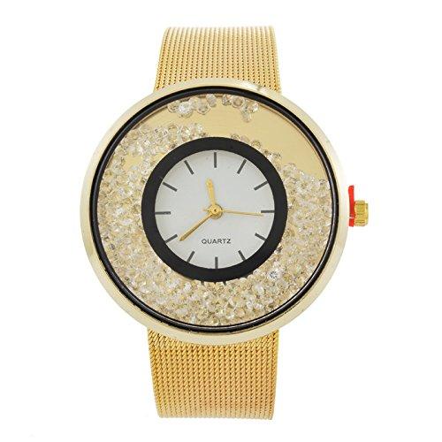 mjartoria Mujer Vintage Reloj de pulsera reloj de cuarzo bisutería Milanaise banda diseño de moda con